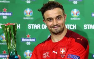 Шачири — лучший игрок матча Швейцария — Турция