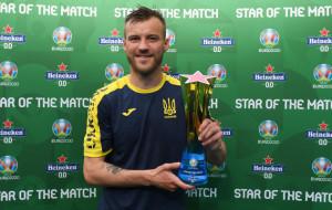 Ярмоленко признан лучшим игроком матча против Северной Македонии