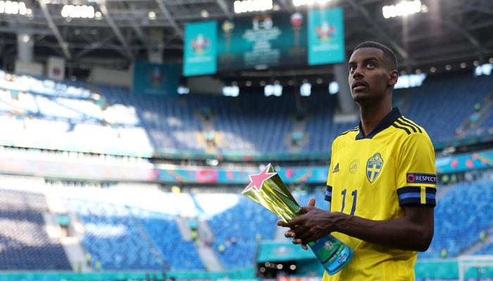 Ісака визнали найкращим гравцем матчу Швеція — Словаччина