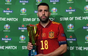Жорди Альба признан лучшим игроком матча с Польшей