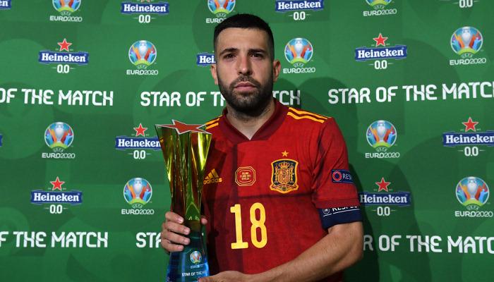 Альба повторил рекорд Иньесты и Фабрегаса по числу матчей за Испанию на чемпионатах Европы