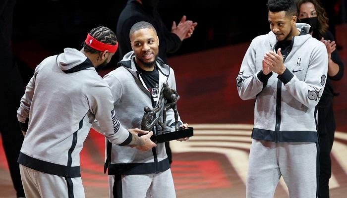 Лилларда признали лучшим одноклубником сезона в НБА