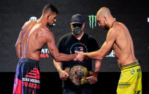 Українець Амосов переміг Ліму і завоював титул Bellator в напівсередній вазі