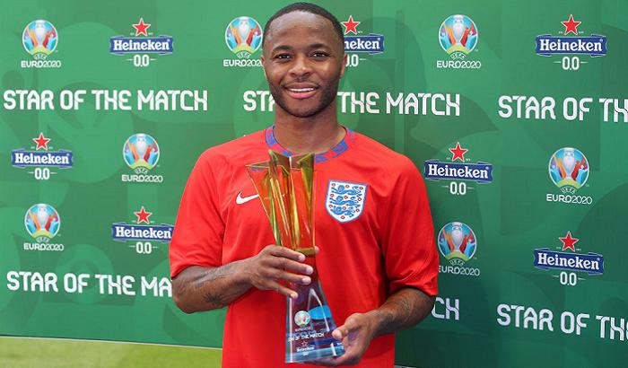 Стерлінг отримав нагороду найкращому гравцеві матчу Англія – Хорватія