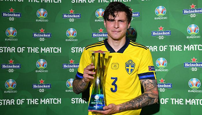Линделеф признан лучшим игроком матча Испания — Швеция