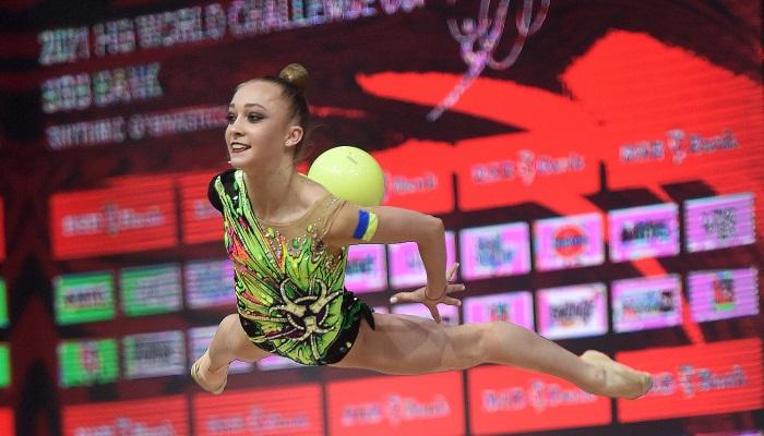 Украинская гимнастка Пограничная завоевала бронзу на Кубке вызова в Минске