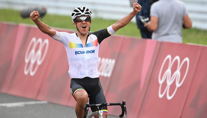 Еквадорець Карапас став олімпійським чемпіоном з велоспорту, Погачар-третій