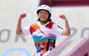 13-летняя японка Нисия стала Олимпийской чемпионкой по скейтбордингу