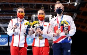 Китаянка Чжу Сюэин выиграла золото в прыжках на батуте на Олимпиаде