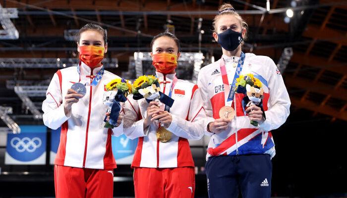 Китаянка Чжу Сюеїн виграла золото в стрибках на батуті на Олімпіаді