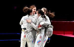 Сборная ОКР выиграла золото Олимпиады в женской командной сабле