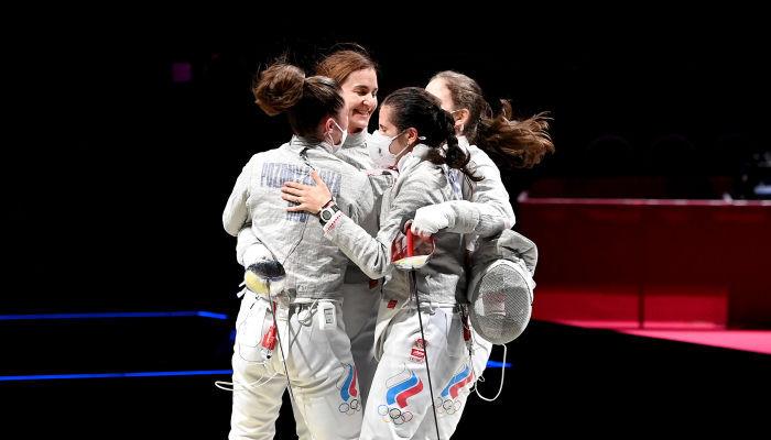 Збірна ОКР виграла золото Олімпіади в жіночій командній шаблі
