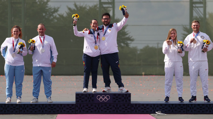 Испания завоевала золото Олимпиады в смешанных соревнованиях в трапе, Сан-Марино — серебро