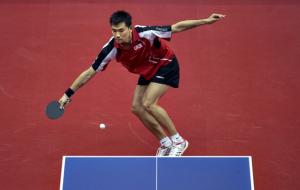 Коу Лей вилетів у другому раунді олімпійського турніру з настільного тенісу