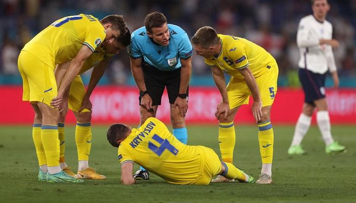 Кривцов травмировался в матче сборных Украины и Англии