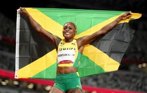 Томпсон з олімпійським рекордом виграла золото жіночої 100-метрівки в Токіо