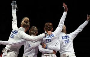 Эстония выиграла золото в командном женском соревновании на Олимпиаде по фехтованию на шпагах