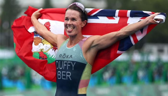 Даффи из Бермудских островов выиграла женские соревнования по триатлону на Олимпиаде