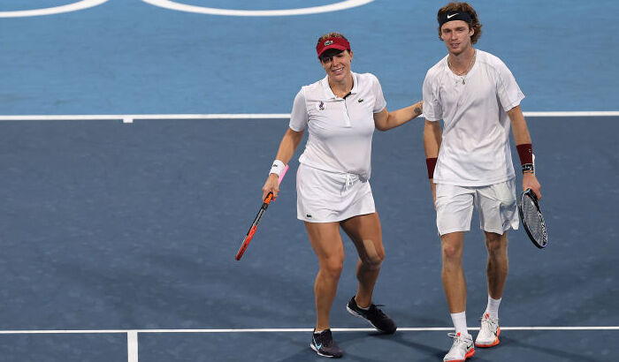 Рублев и Павлюченкова выиграли золото Олимпиады в миксте
