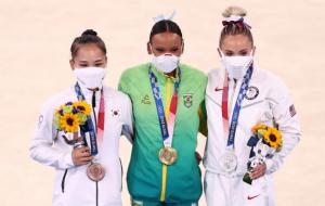 Бразилійка Андраде виграла золото Олімпіади в опорному стрибку