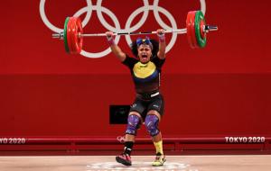 Баррера виграла золото Олімпіади у важкій атлетиці у вазі до 76 кг
