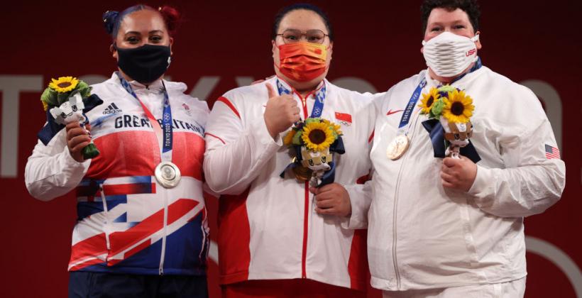 Китайська штангістка Лі Веньвень виграла золото Олімпіади у вазі понад 87 кг