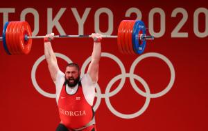 Талахадзе с мировым рекордом выиграл олимпийское золото в тяжелой атлетике