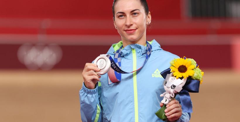 Украинка Старикова выиграла серебро Олимпийских игр в спринте велотрека