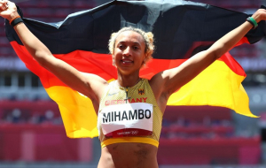 Михамбо — олимпийская чемпионка в прыжках в длину. Бех-Романчук заняла пятое место