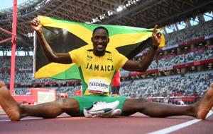 Ямаец Парчмент — олимпийский чемпион в беге на 110 метров с барьерами