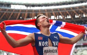 Норвежець Вархольм зі світовим рекордом виграв олімпійське золото в забігу на 400 метрів з бар'єрами