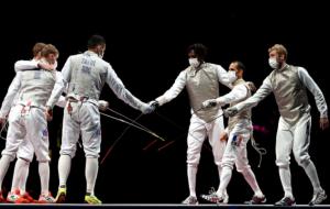 Чоловіча збірна Франції виграла золото Олімпіади у фехтуванні на рапірах