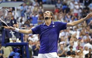 Победа Медведева над Джоковичем в финале US Open. Видео