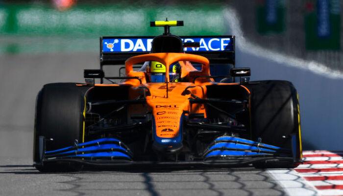 Норрис выиграл квалификацию Гран-при России. Это первый поул британца в Формуле-1