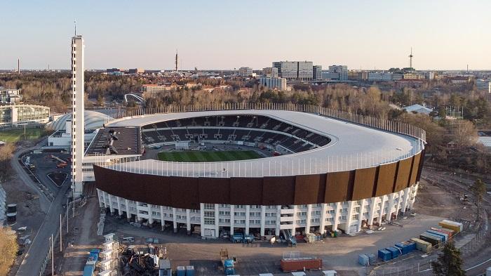 Стадион в Хельсинки на матче Финляндия — Украина разрешили заполнить на 90%