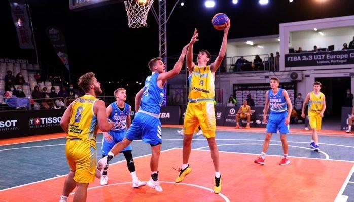 Мужская сборная Украины по баскетболу 3х3 уступила Словении в финале ЧЕ U-17