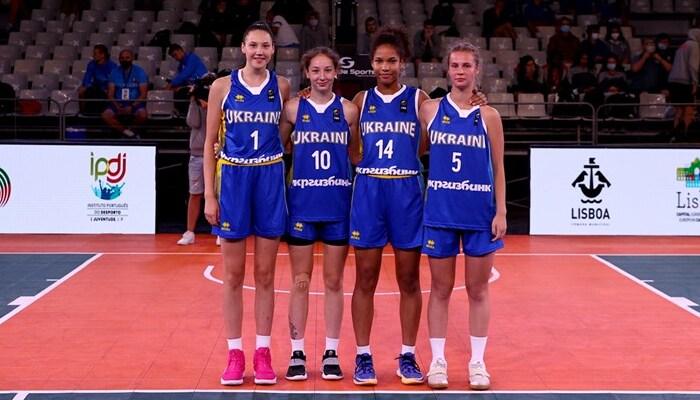 Женская сборная Украины U-17 вышла в четвертьфинал чемпионата Европы по баскетболу 3х3