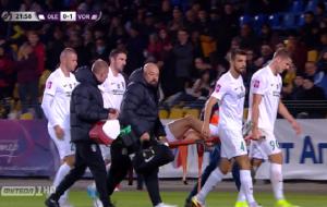 Ковалець на ношах покинув поле в матчі з Ворсклою