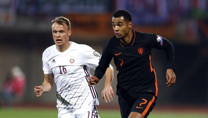 Нидерланды на выезде минимально победили Латвию и укрепили лидерство в группе G
