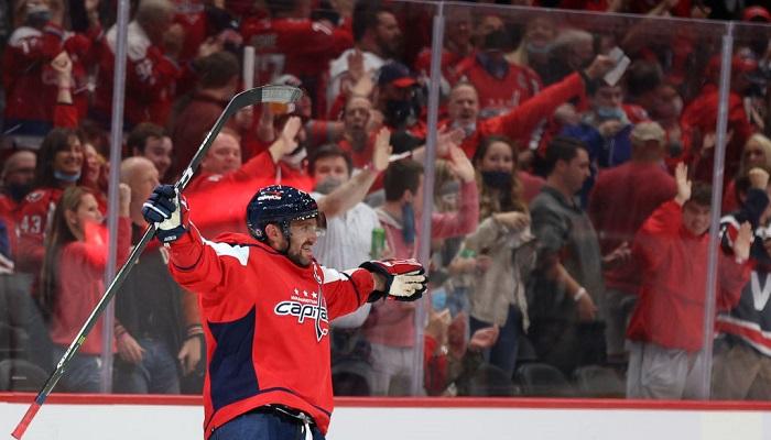 Овечкин вышел на пятое место в списке лучших бомбардиров в истории НХЛ